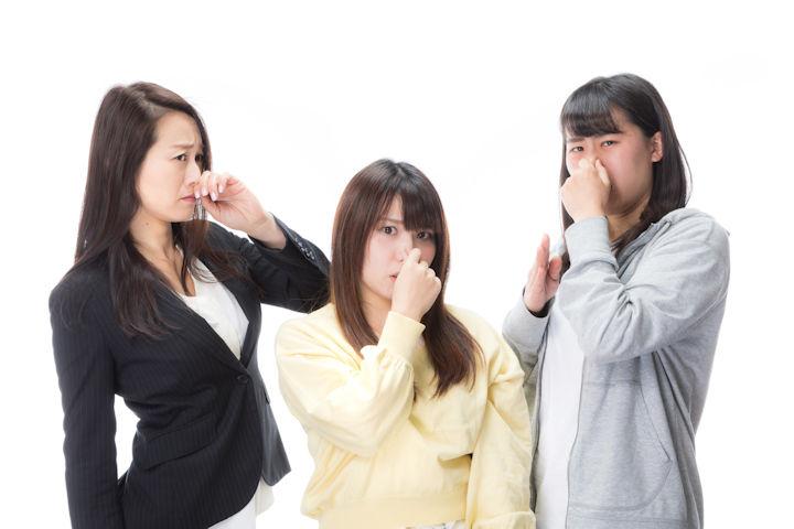 匂いを嫌がる女性陣