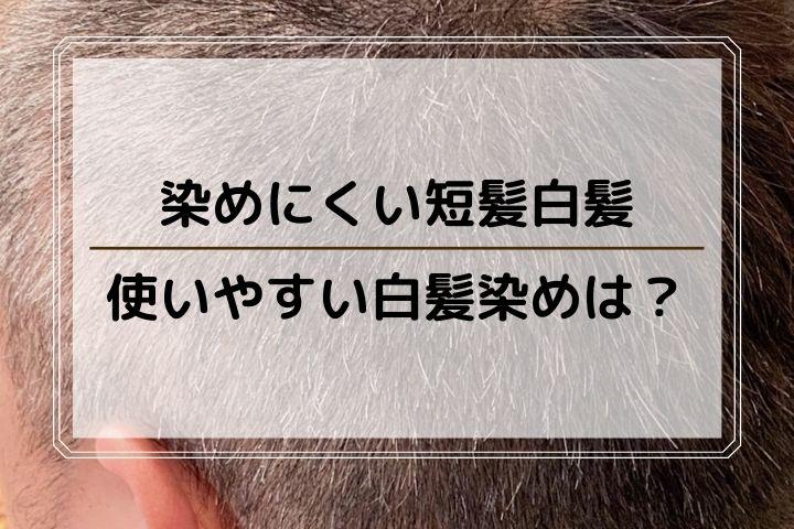 短髪男性に使いやすい白髪染め!坊主頭の白髪もきれいに染まる