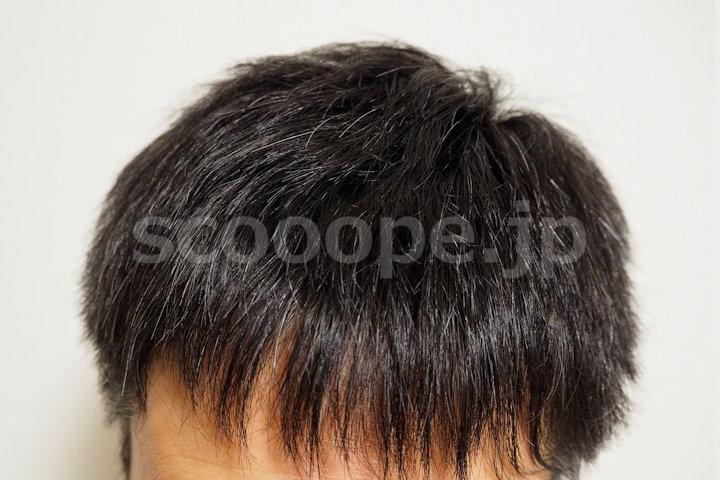 白髪ぼかし整髪料をつける前の髪